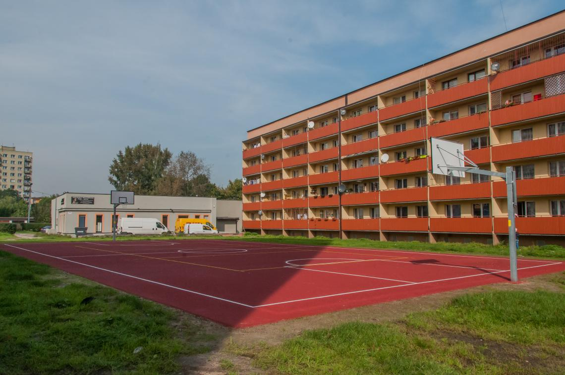 Basketballplatz in Trynek